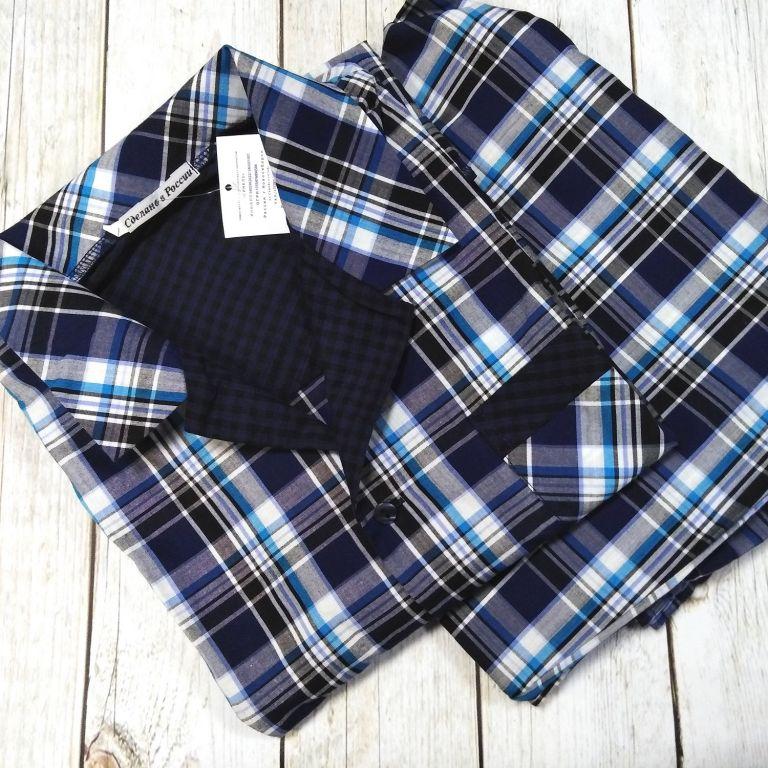 632d1314f3ff Мужскую пижаму мод. 211 синяя клетка купить в СПб 200023 ...